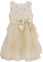 Rare Editions Sequin-Detail Special Occasion Dress, Big Girls
