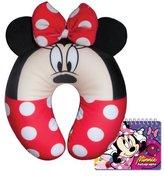 Disney Minnie Mouse Kids Neck Comfy Pillow with Autograph Book Set