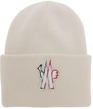 MONCLER GRENOBLE Macro Logo Wool Tricot Hat