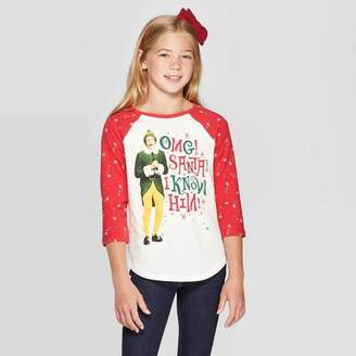 Off-White Warner Bros. Girls' Warner Bros. Elf Raglan 3/4 Sleeve T-Shirt