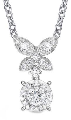 Memoire 18K 0.25 Ct. Tw. Diamond Bouquet Butterfly Necklace