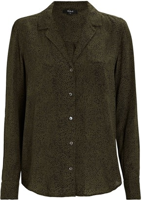 Rails Rebel Silk Speckle Print Shirt