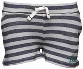Bench Girls Striped Shorts Grey Marl