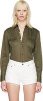 Saint Laurent Green Western Shirt
