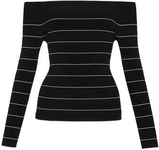 Whistles Fine Stripe Bardot Knit