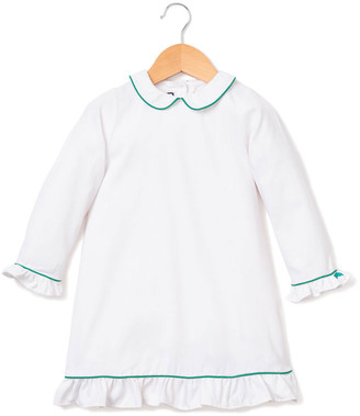 Petite Plume Sophia Nightgown w/ Contrast Piping, Size 6M-14