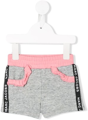 The Marc Jacobs Kids Logo Lined Track Shorts