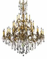 Elegant Lighting 45-Light French Gold Chandelier with Clear Crystal