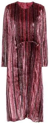 Sies Marjan Maude silk-blend velvet dress