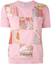 Salvatore Ferragamo patch-embroidered top