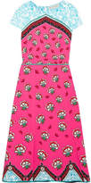 Mary Katrantzou Osmond Printed Crepe Midi Dress - Fuchsia