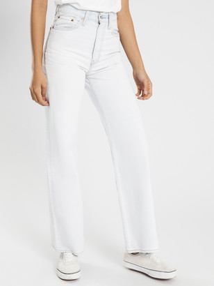 Levi's Ribcage Wide Leg Jeans in Cold As Ice Blue Denim
