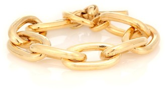 Tilly Sveaas Large Oval 18kt gold-plated link bracelet