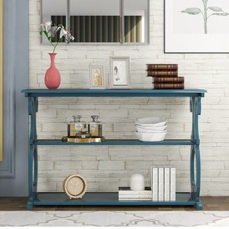 """One Allium Way Kaycee 48"""" Console Table Color: Navy Blue"""