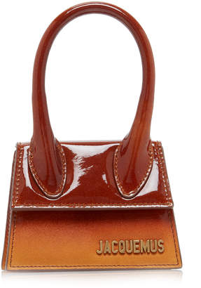 Jacquemus Le Chiquito Ombré Patent-Leather And Suede Bag