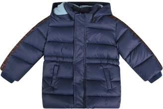 Fendi Blue Babyboy Jacket With Double Ff Details