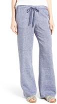 Caslon Drawstring Linen Pants (Petite)