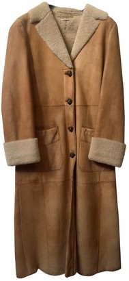 Miu Miu Camel Shearling Coat for Women Vintage