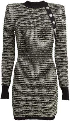 Balmain Melange Tweed Bodycon Dress
