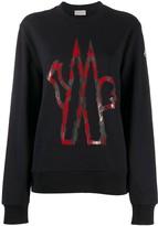 Moncler contrasting logo print sweatshirt