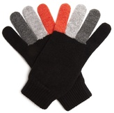 Paul Smith Tri-colour wool gloves