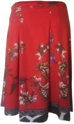 Roberto Cavalli Red Cotton Skirt for Women