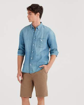 7 For All Mankind 10'' Inseam Total Twill Chino Short in Rich Khaki