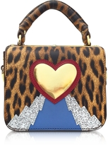 Sophie Hulme Leopard Print Multi Finsbury Small Top Plate Crossbody Bag