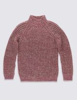 Marks and Spencer Chunky Roll Neck Jumpers (5-14 Years)