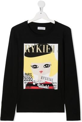 Sonia Rykiel Enfant TEEN magazine print longsleeved T-shirt