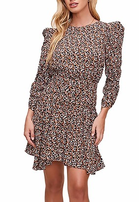 ASTR the Label Women's Savannah Mock Neck Long Sleeve Mini Dress