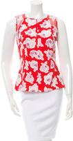 Nina Ricci Floral Print Silk Top