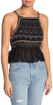 Free People Camille Embroidered Bead Embellished Camisole