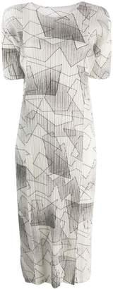 Pleats Please Issey Miyake printed plissé dress