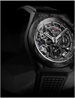Zenith Defy carbon fibre and rubber watch