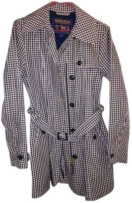 Woolrich Blue Cotton Trench Coat for Women