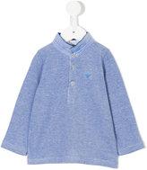Armani Junior standing collar polo shirt