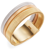 Marco Bicego 18K Two-Tone Gold Etched Goa Ring
