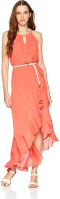 Amy Byer A. Byer Women's Ruffle Front Faux Wrap Dress (Juniors)