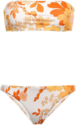 Zimmermann Primrose Floral-print Bandeau Bikini