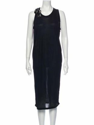Lanvin Scoop Neck Midi Length Dress Black