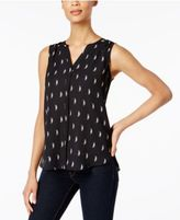 NYDJ Pleated Printed Blouse