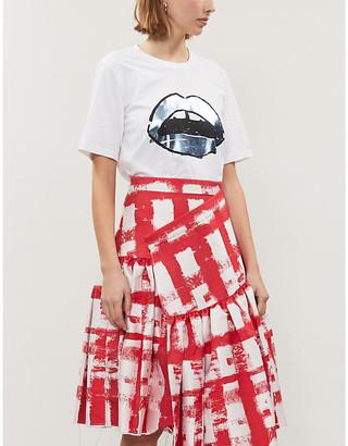 Markus Lupfer Alex lip-print cotton T-shirt