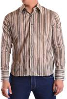 Gazzarrini Men's Multicolor Cotton Shirt.