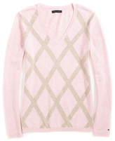 Tommy Hilfiger Classic Argyle V Neck Sweater