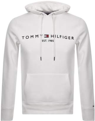 Tommy Hilfiger Logo Hoodie White