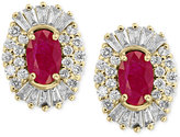 Effy Amoré by Certified Ruby (1-1/8 ct. t.w.) and Diamond (5/8 ct. t.w.) Earrings in 14k Gold