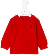 Ralph Lauren embroidered logo sweatshirt - kids - Cotton - 3 mth