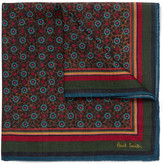 Paul Smith Printed Wool And Silk-blend Pocket Square - Multi
