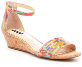 Alex Marie Mairitwo Leather Cork Wedge Sandals